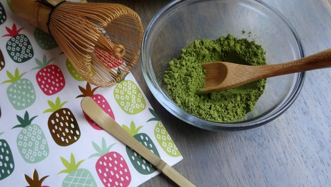 Matcha is a popular ingredient in drinks and baked goods. It is simply a high-grade powdered form of green tea leaves.