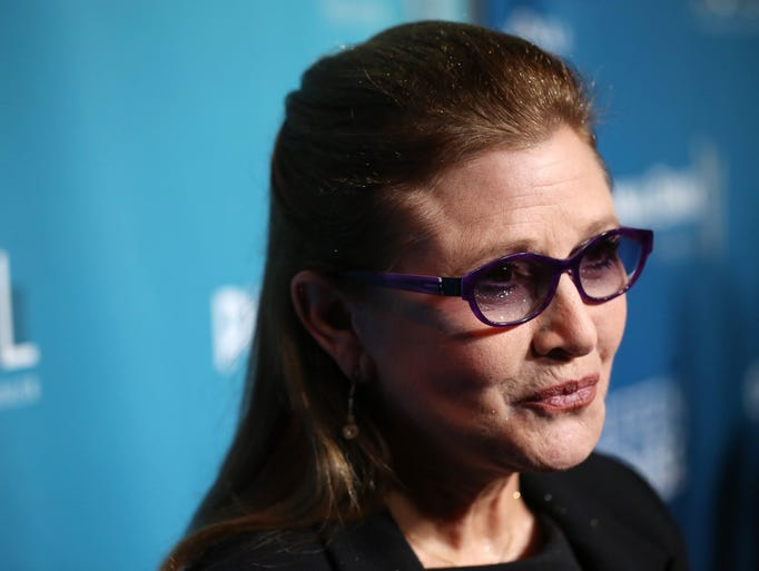 Carrie Fisher, the iconic actress who portrayed Princess