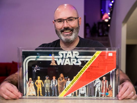 Bill Wills poses with his Kenner Early Bird Certificate