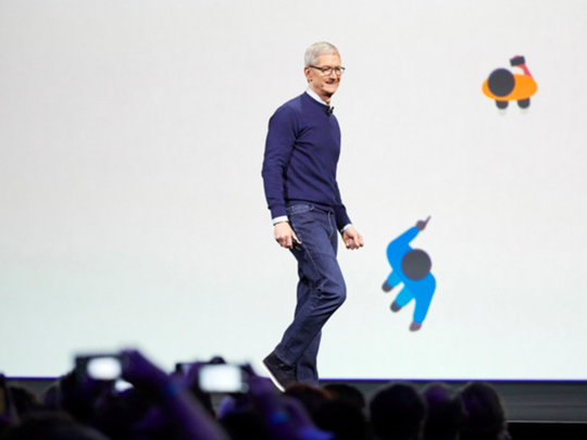 Apple began 2019 warning investors of weaker demand for the iPhone XS and XR phones in China, but 2019 finished as a record year for the company and CEO Tim Cook, pictured here.