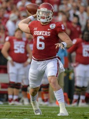 Oklahoma Sooners quarterback Baker Mayfield could be one of the top picks in the NFL draft.