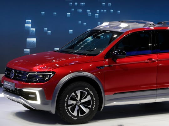 The Volkswagen Tiguan GTE Active concept debuts Jan. 11, 2016, at Cobo Center.