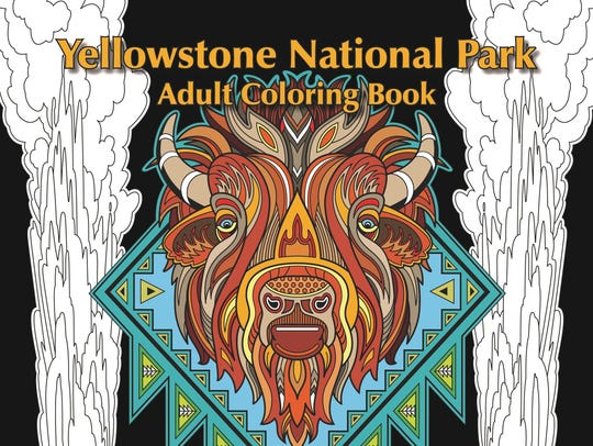 """The Yellowstone National Park Adult Coloring Book:"