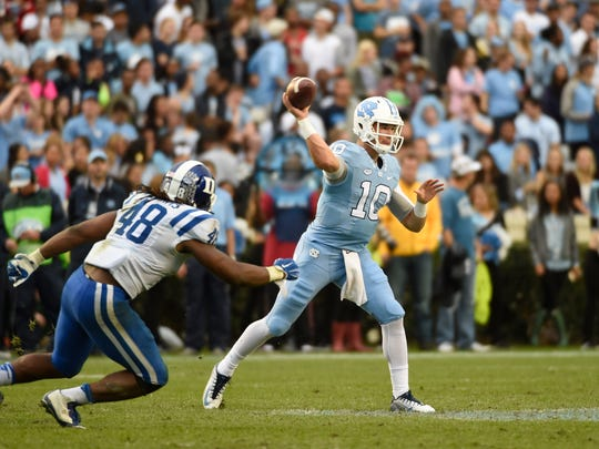 Mitch Trubisky, the expected starter at quarterback for UNC, tossed for 555 yards, while completing over 85 percent of his passes in a backup role last season.