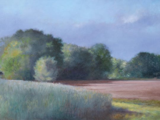 """""""New Paltz Field"""" by Linda Puiatti was inspired by a drive up to Mohonk."""