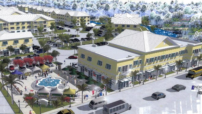 Rendition of Preserve at Oak Creek, a commercial and residential complex that will be the first major project in the new Old 41 downtown corridor in Bonita Springs.