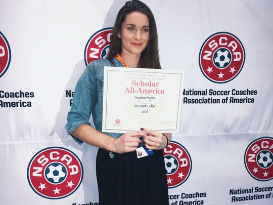 Moorpark College sophomore Madison Murray was named second-team Academic All-American by the National Soccer Coaches Association of America last week at the body's annual convention in Los Angeles.