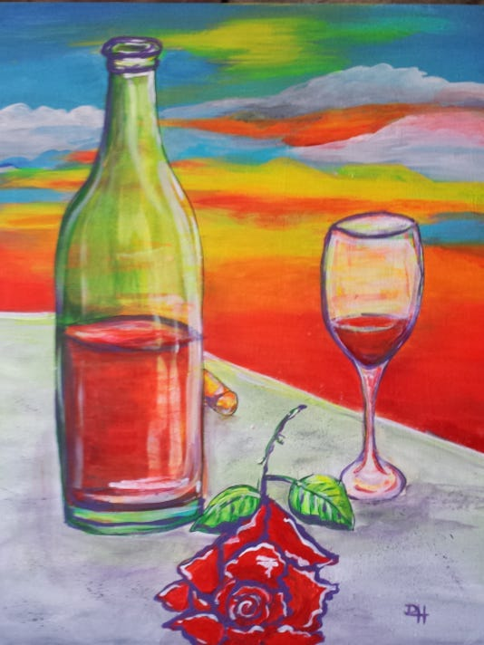 """""""Wine and Roses"""" by Deanna Hicks"""
