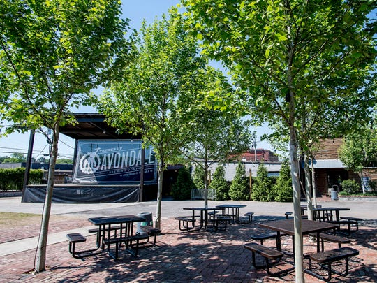 The concert venue at Avondale Brewing in the Avondale neighborhood of Birmingham, Ala. on Wednesday May 2, 2018.