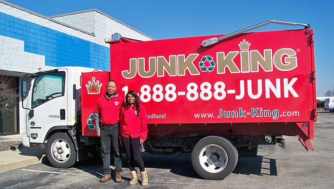 Julius and Jacqueline McQueen launched Junk King Indianapolis in January 2016 with Jacqueline serving as president and Julius as operations manager.