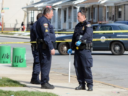 York City Police investigate an afternoon shooting