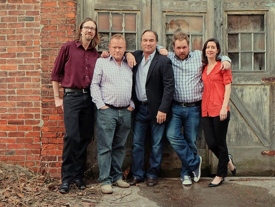 Jim Belushi (center) and the Board of Comedy.