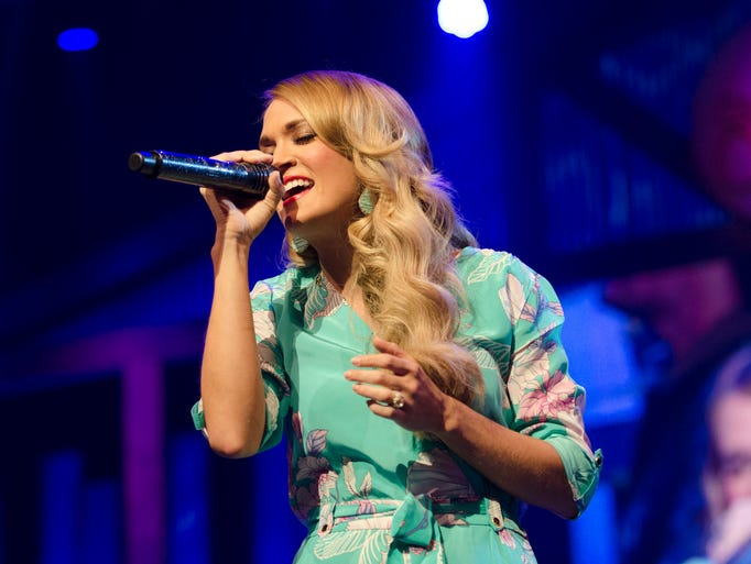 Carrie Underwood performs at the Grand Ole Opry, July 25th, in Nashville, Tenn.