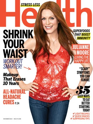 Actress Julianne Moore covers the November 2013 issue of 'Health' magazine.