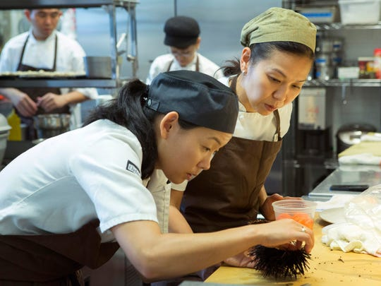 """Chef Niki Nakayama is seen in a scene from the series """"Chef's Table."""" The Netflix series pushes into the childhoods, early failures and emotional connections between the renowned featured chefs and the pioneering food that defines them."""
