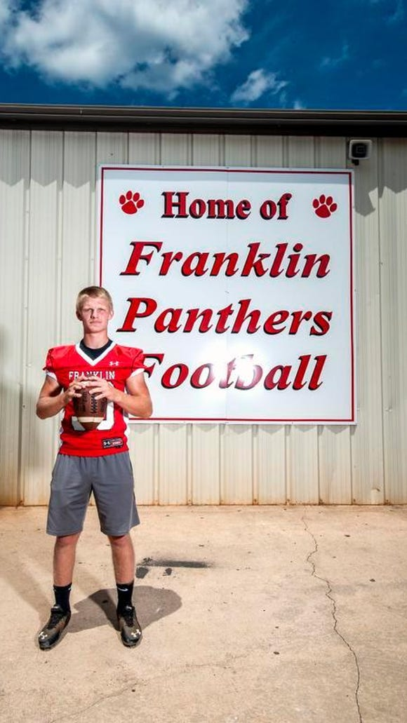 Hunter Gibbs is a returning all-conference football player for Franklin.