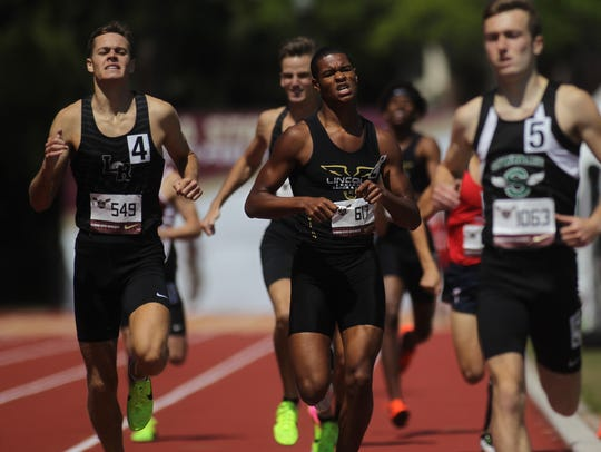 Lincoln's Charles Hruda finishes his boys 800-meter
