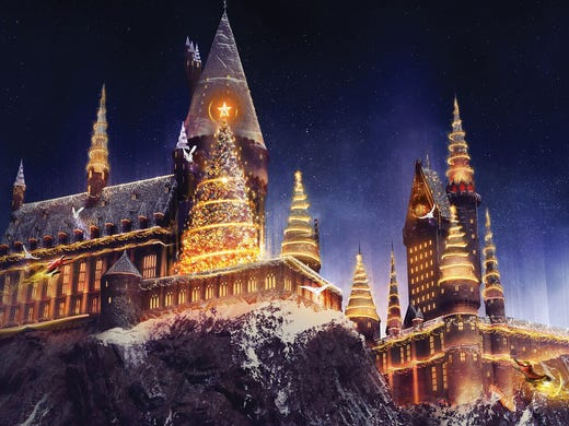 christmas is coming to harry potters wizarding world