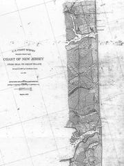 An 1867 U.S. Coast Survey shows an open inlet at Deal Lake, called Great Pond.