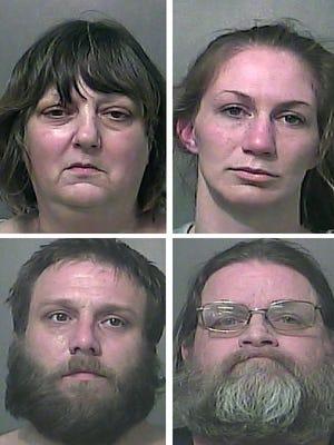 Clockwise from top left: Robin Lee Kraemer, Sarah Beth Travioli, Chad Allen Kraemer and Hubert A. Kraemer.