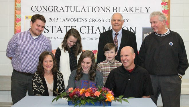 Highlands senior Blakely Moore has signed to run cross country and track for Lee (Tenn.).