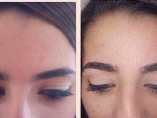Before and After eyebrow design