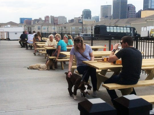 Sip with your dog at your side at Metazoa Brewing on College Ave.