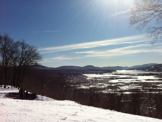 Boscobel's Belvedere is an idea spot to spot eagles.