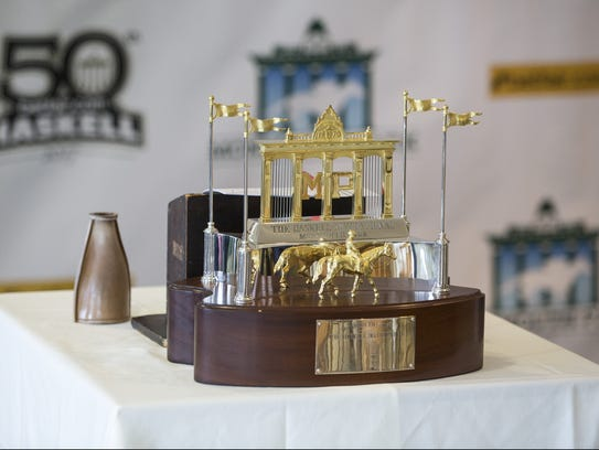 The trophy for the Betfair.com Haskell Invitational