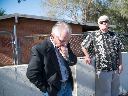 Two retired officers, Weaver Barkman (left) and Bill Richardson are convinced that Phoenix police botched the investigation into the 2013 shooting of a Black man by an off-duty ADOT officer.