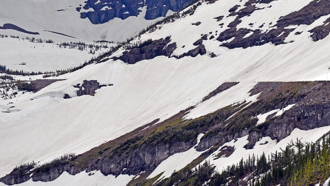 The Big Drift as seen from Going-to-the-Sun Road on June 2, 2017.