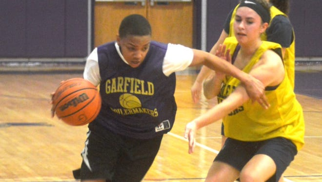 Garfield senior forward Shamoni Butts will be a key player for the Lady Boilermakers.