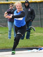 Lakeland's Reina Troxell captured first in the discus