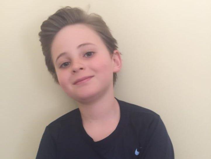 9-year-old Holmes Desmelik.