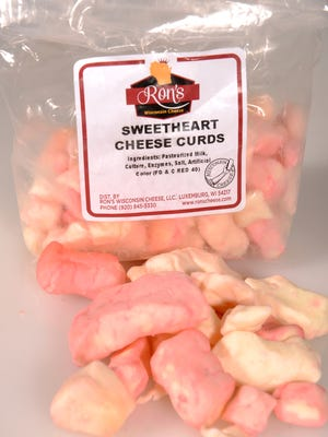 Valentine's Day cheese curds from Ron's Wisconsin Cheese.