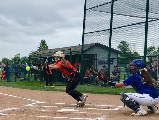 North Union softball Abby Davis