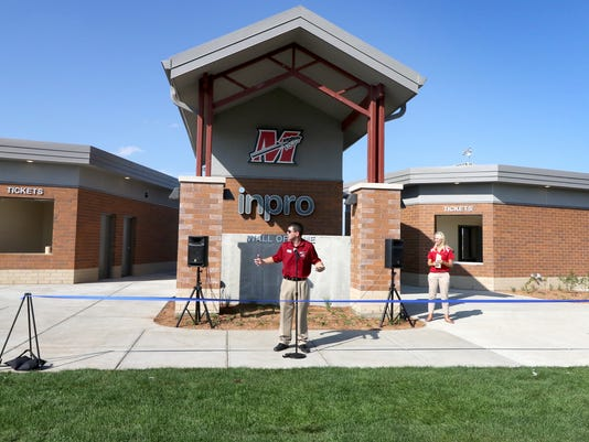 New Concession and Restroom building at Muskego High School Stadium