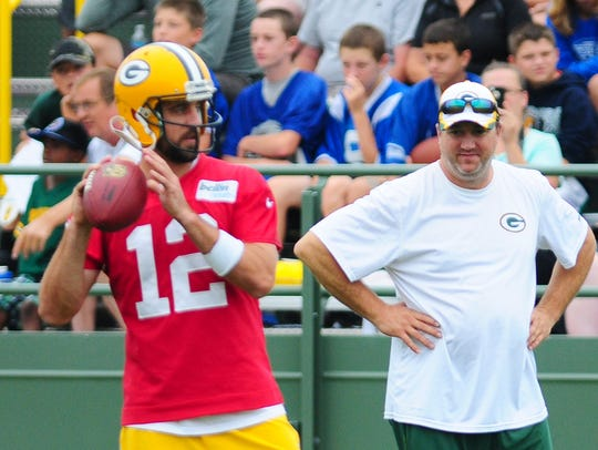 Green Bay Packers quarterbacks coach Alex Van Pelt