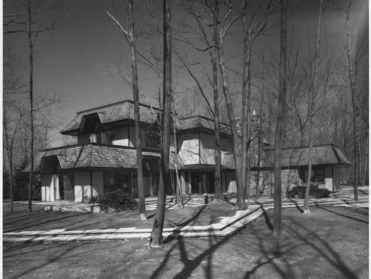 The Nixon residence in Saddle River.
