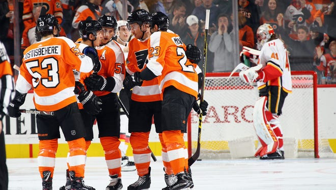 Because the Flyers have barely played teams from the Eastern Conference, let alone their own division, there's plenty of time to get into the playoffs.