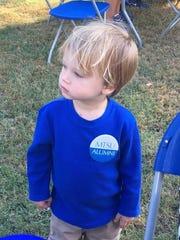 Grandmother  Peggy Templeton has big blue plans for Lander Bohannon.