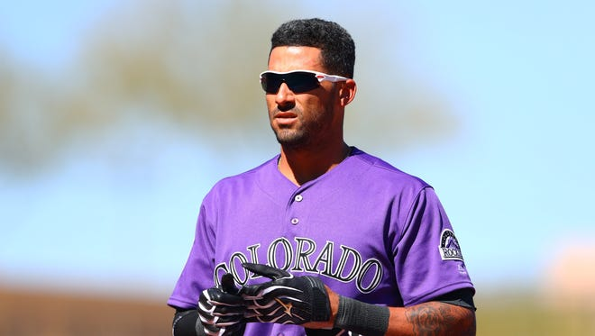 Ian Desmond fractured his left hand in spring training and had not played since the season began.