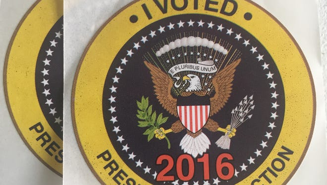 'I Voted' 2016 Presidential Election sticker.