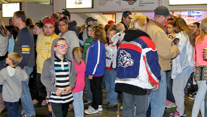 Fans turned out in force for the Oct. 10 pre-season Jackals game at First Arena in Elmira. Officials hope promotions and events will keep the fan base loyal and create new energy.
