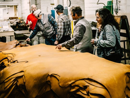 Wall of Honor inductees tour the Red Wing Shoe Company