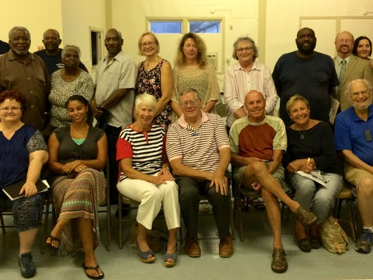 """Worcester County NAACP members and guests gathered at the Berlin Multi-Purpose Building in August to hear a presentation for a proposed memorial to Snow Hill native, William Julius """"Judy"""" Johnson."""