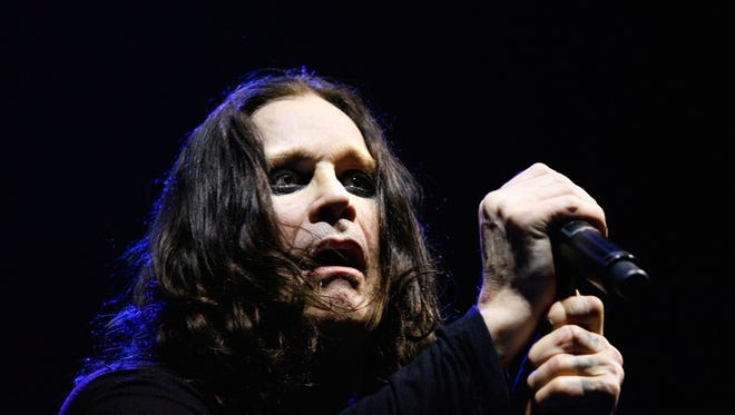 British singer Ozzy Osbourne performs live on stage with his band at the Acer Arena on March 18, 2008 in Sydney, Australia.