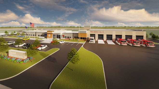 Design plans from HMA Architects for Sartell's new public safety facility, a project approved by city council on Feb. 26, 2018.