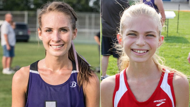 Lakeview's Maggie Farrell (L) and St. Philip's Ava Strenge.