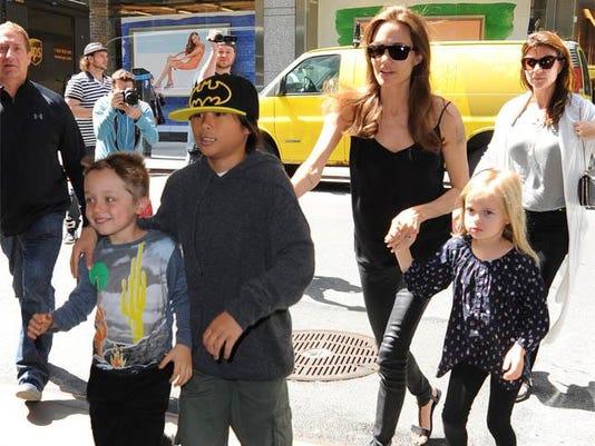 Knox Jolie-Pitt (left)